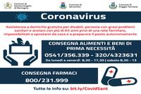 Emergenza Coronavirus: spesa, pasti caldi e farmaci a domicilio per anziani e disabili.